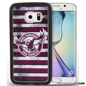 Licensed NRL Manly Sea Eagle Grunge Jersey TPU 3D Case for Samsung Galaxy S6 Edge