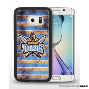 Licensed NRL Gold Coast Titans Grunge Jersey TPU 3D Case for Samsung Galaxy S6 Edge