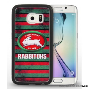 Licensed NRL South Sydney Rabbitohs Grunge Jersey TPU 3D Case for Samsung Galaxy S6 Edge