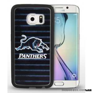 Licensed NRL Penrith Panthers Grunge Jersey TPU 3D Case for Samsung Galaxy S6 Edge