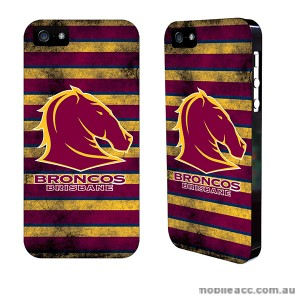 NRL Licensed Brisbane Broncos Grunge Back Case for iPhone 5/5S