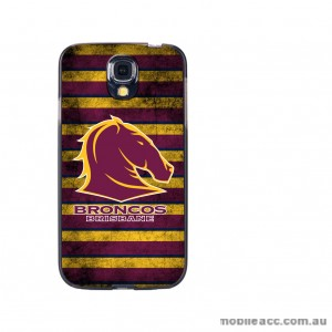 NRL Licensed Brisbane Broncos Grunge Back Case for Samsung Galaxy S4