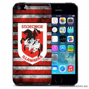 NRL Licensed St. George Illawarra Dragons Grunge Back Case for iPhone 5C