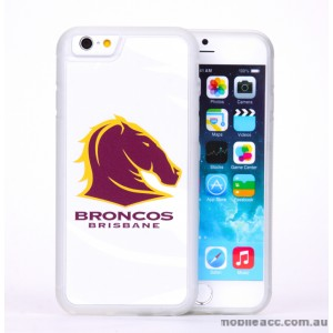Licensed NRL Brisbane Broncos Back Case for iPhone 6/6S - White