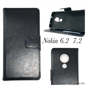 Wallet Pouch Case for Nokia 6.2  7.2  Black