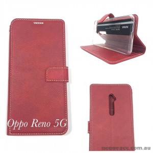 Hana Wallet Pouch Oppo Reno 5G  Red