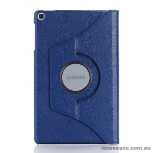 360 Degree Rotary Flip Case for Samsung Tab A 8.0  T290  Navy Blue