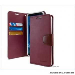 Korean Mercury Sonata Wallet Case For Note 10  Red Wine
