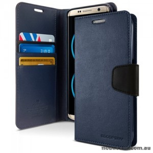 Korean Mercury Sonata Wallet Case For Note 10 Plus  Navy Blue