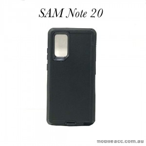 Anti Shock Heavy Duty  Case Cover For Samsung Note 20  Black