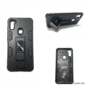 Anti Shockproof Heavy Duty With Stand With Magnet Case For Samsung A11  Black