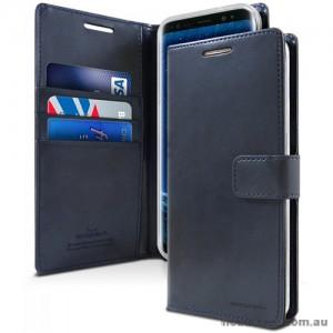 Mercury Goospery Blue Moon Diary Wallet Case For Samsung S20 FE 5G   Navy Blue