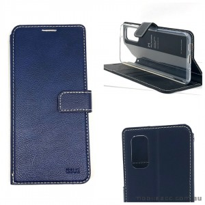 Molancano ISSUE Diary Wallet Case For Samsung S20 FE 5G  Navy Blue