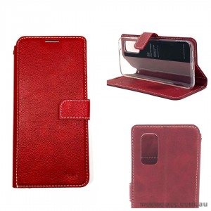 Molancano ISSUE Diary Wallet Case For Samsung S20 FE 5G  Red