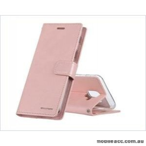 Korean Mercury Bluemoon Diary Wallet Case ForSamsung S20 Plus  6.7 inch  Rose Gold