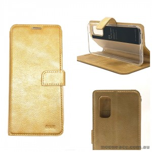 Genuine Molancano ISSUE Diary Stand Wallet Case For Samsung S20 Plus 6.7 inch   Gold