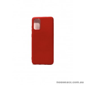 Hana Soft Feeling Jelly Case For Samsung S20 6.2 inch  Red