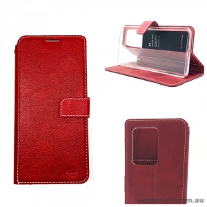 Genuine Molancano ISSUE Diary Stand Wallet Case For Samsung S20 Ultra 6.9 inch  Red