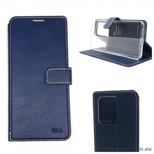 Genuine Molancano ISSUE Diary Stand Wallet Case For Samsung S20 Ultra 6.9 inch  Navy Blue