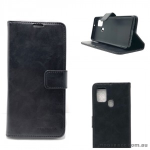 Mooncase Diary Wallet Case For Samsung A21S Black