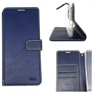 Molancano ISSUE Diary Wallet Case For Samsung A50  Navy Blue