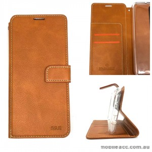 Molancano ISSUE Diary Wallet Case For Samsung A50  Brown