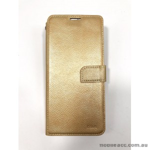 Hana  Wallet Case For Samsung  Galaxy  A20 / A30  Gold
