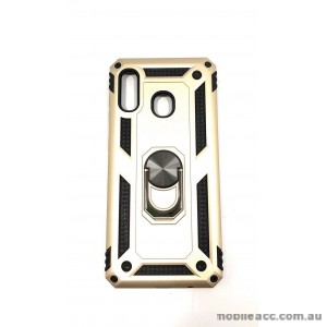 Anti Shock with Magnet Stand case for Samsung  A20 A30  Gold
