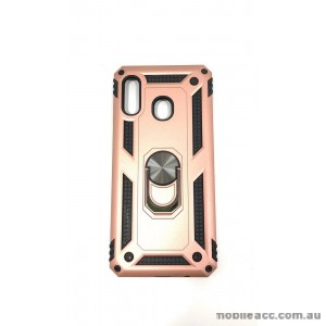 Anti Shock with Magnet Stand case for Samsung  A20 A30  Rose Gold
