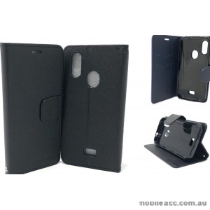 Mooncase Stand Wallet Case Cover For Telstra  ZTE Tough MAX 3 T86  Black