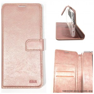 Genuine Molancano ISSUE Diary Stand Wallet Case For Samsung A71 6.7 inch  Rose Gold
