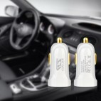 2.1A LED USB Car Charger Small Size Charge For Mobile phone Tablet With Cable