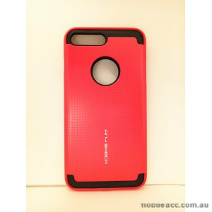 KOREAN ANY SHOCK LAYER GUARD CASE FOR iPhone 7 Plus - Red