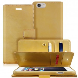 Original Mercury Mansoor Wallet Diary Case for iPhone 6 Plus / 6S Plus Hot Gold
