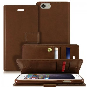 Original Mercury Mansoor Wallet Diary Case for iPhone 6 Plus / 6S Plus Brown