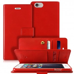 Mercury Mansoor Wallet Diary Case for iPhone 5/5S/SE Red