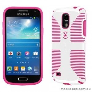 Genuine Speck CandyShell Grip Case for Samsung Galaxy S4 Mini - White/Pink