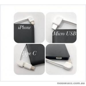 3in 1 Power bank For Universal phone / ipad 4000 mAh Black