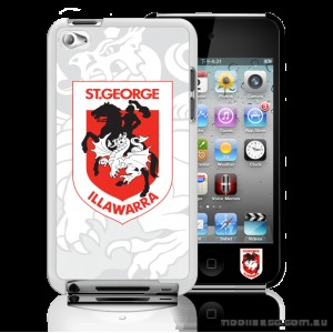 NRL Licensed St. George Illawarra Dragons Watermark Case for iPod Touch 4
