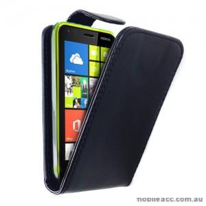 Synthetic PU Leather Flip Case for Nokia Lumia 620 - Black