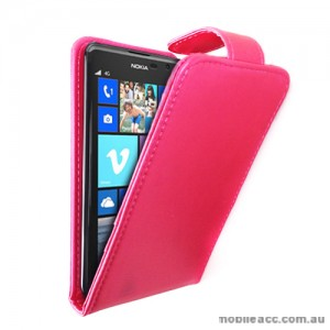Synthetic Leather Flip Case for Nokia Lumia 625 - Hot Pink
