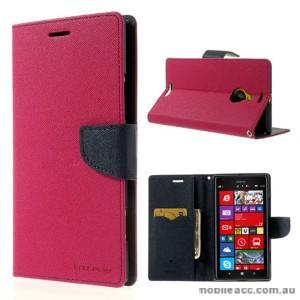 Mercury Goospery Fancy Diary Wallet Case for Nokia Lumia 1520 - Hot Pink