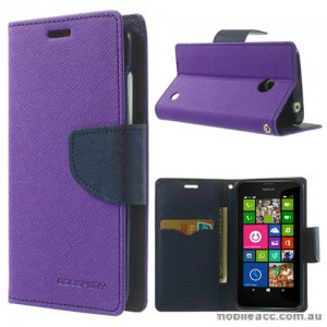 Mercury Goospery Fancy Diary Wallet Casefor Nokia Lumia 630 635 - Purple