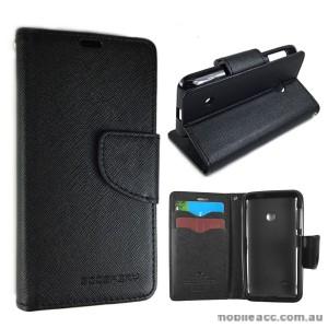 Wisecase Wallet Case Cover for Nokia Lumia 530 Black