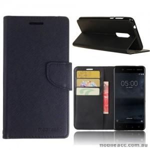 Mooncase Stand Wallet Case For Nokia 5 - Black