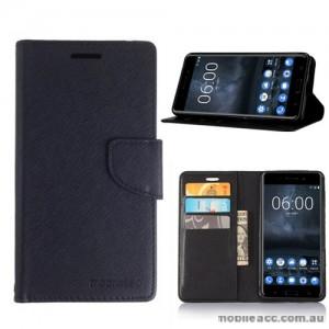 Mooncase Stand Wallet Case For Nokia 6 - Black