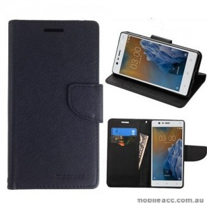 Mooncase Stand Wallet Case For Nokia 3 - Black