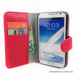 Loel Quality Wallet Case for Samsung Galaxy Note2 N7100 - Red