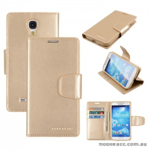 Korean Mercury Sonata Wallet Case for Samsung Galaxy S4 - Gold