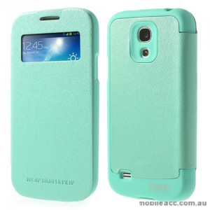 Korean WOW Window View Flip Cover for Samsung Galaxy S4 - Green